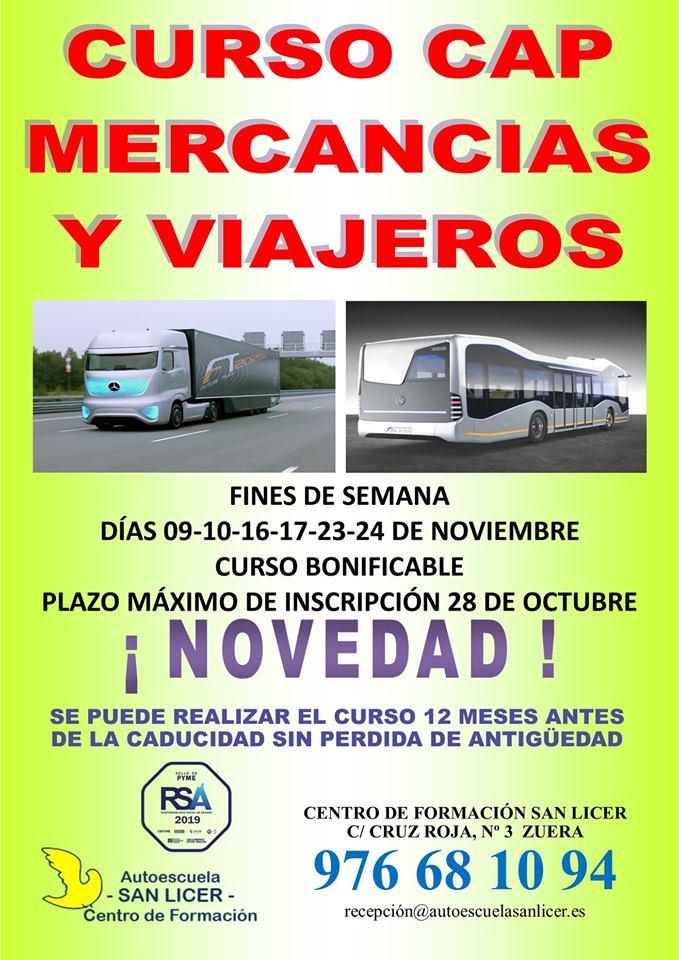 Curso de CAP en Autoescuela San Licer