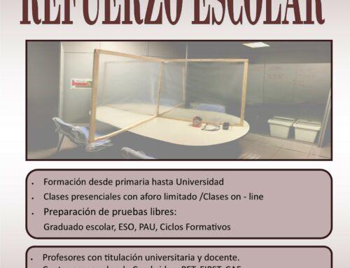 REFUERZO ESCOLAR CURSO 20/21